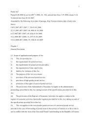 1 Postal Act Passed 6.04.2006 by an Act (RT I ... - Konkurentsiamet