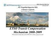 ETSO Transit Compensation Mechanism 2008 ... - Konkurentsiamet