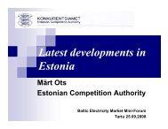 Märt Ots, Estonian Competition Authority - Konkurentsiamet