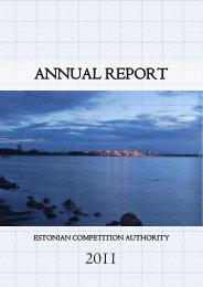 annual report 2011 - Konkurentsiamet