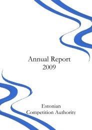 Annual Report 2009 - Konkurentsiamet