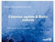 Estonian update & Baltic outlook - Konkurentsiamet