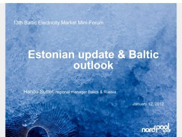 Estonian update & Baltic outlook - Konkurentsiamet