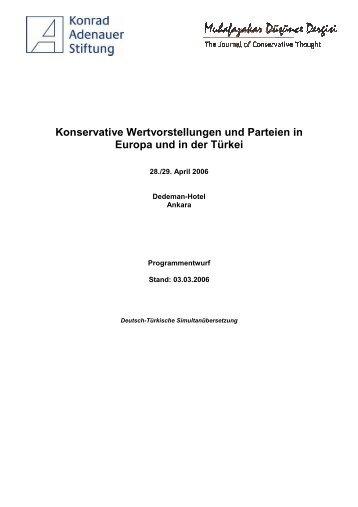 Konservative Wertvorstellungen und Parteien in Europa und in der ...