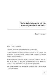 Die Türkei als Beispiel für die arabisch/muslimische Welt?
