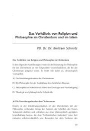 Das Verhältnis von Religion und Philosophie im Christentum und im ...
