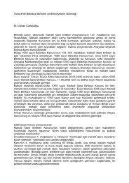 Türkiye'de Belediye Birlikleri ve Belediyelerin Geleceği M. Volkan ...