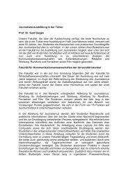 Journalistenausbildung in der Türkei Prof. Dr. Suat Gezgin Unsere ...