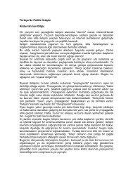 Türkiye'de Politik İletişim Abdurrahman Bilgiç 20. yüzyılın son ...