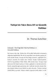Türkiye'nin Yak›n Do¤u D›flve Güvenlik Politikas›
