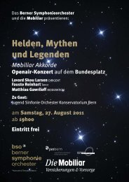 Flyer OPENAIR.indd - Musikschule Konservatorium Bern