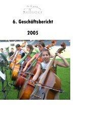 2005 6. Geschäftsbericht - Musikschule Konservatorium Bern