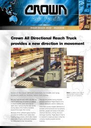 Crown All Directional Reach Truck provides a new direction in ...
