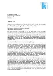 Stellungnahme zur Totalrevision des Bundesgesetzes vom 6 ...