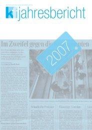 Jahresbericht 2007 (PDF) - Konsumentenforum kf