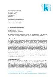 Postverordnung (PDF) - Konsumentenforum kf