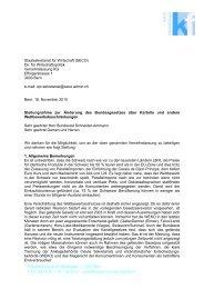 Stellungnahme zur Änderung des Bundesgesetzes über Kartelle ...