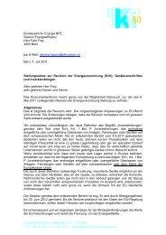 Stellungnahme zur Revision der Energieverordnung (PDF)