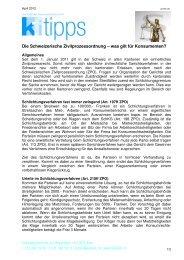 Laden Sie das Merkblatt als PDF herunter - Konsumentenforum kf