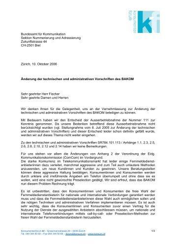 Änderung der technischen und administrativen Vorschriften des ...