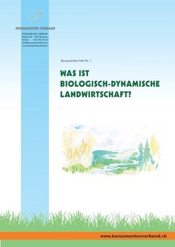 Was ist biologisch-dynamische Landwirtschaft? - Konsumenten ...