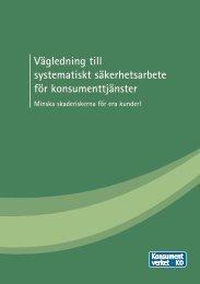 Vägledning till systematiskt säkerhetsarbete för ... - Konsumentverket