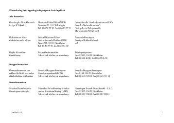 Förteckning över egenåtgärdsprogram från ... - Konsumentverket