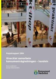 Utvecklat samarbete konsumentvägledningen ... - Konsumentverket