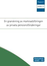 En granskning av marknadsföringen av privata ... - Konsumentverket