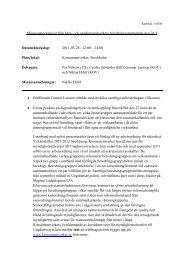 Minnesanteckningar 110328 - Konsumentverket