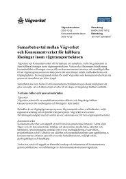 Samarbetsavtal mellan Vägverket och Konsumentverket för hållbara ...