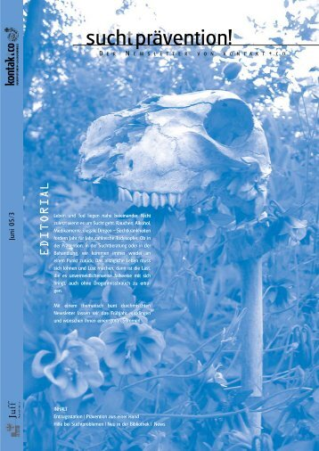 Ausgabe 3 - kontakt+co Suchtprävention Jugendrotkreuz