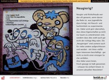 Neugierig? - kontakt+co Suchtprävention Jugendrotkreuz