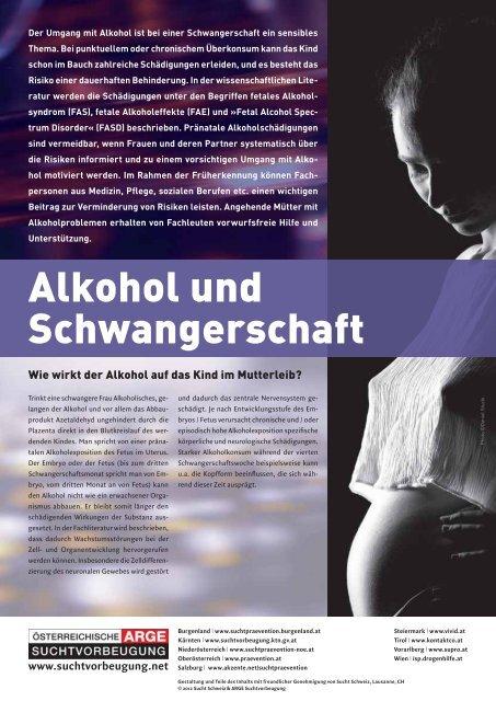 Alkohol und Schwangerschaft