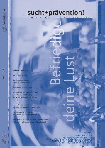 Ausgabe 2 - kontakt+co Suchtprävention Jugendrotkreuz