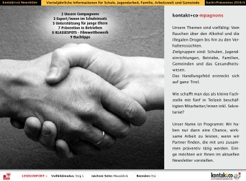 kontakt+co-mpagnons - kontakt+co Suchtprävention Jugendrotkreuz