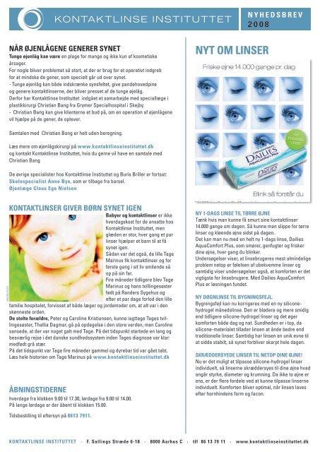 7d2decb4e568 nyt om linser - Kontaktlinse Instituttet