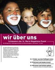 Schwestern der hl. Maria Magdalena Postel S. II Kinder ... - Kontinente