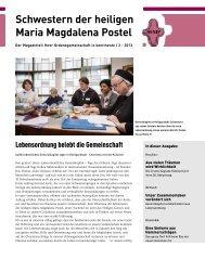 Schwestern der heiligen Maria Magdalena Postel - Kontinente