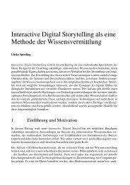 Interactive Digital Storytelling als eine Methode der ...