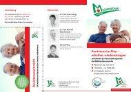 Programmflyer zum Download. - Kreiskrankenhaus Mechernich