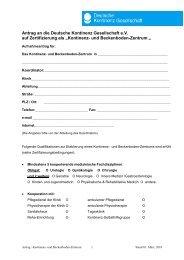 Antrag an die GIH zur Aufnahme in die Liste der - Deutsche ...