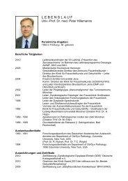 Prof. Dr. Peter Hillemanns - Deutsche Kontinenz Gesellschaft