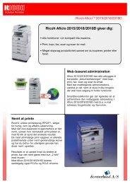 Data blad (pdf) - Kontorland A/S