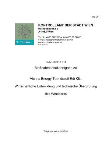 02-36-KA-IV-GU-212-1-13.pdf - Kontrollamt der Stadt Wien