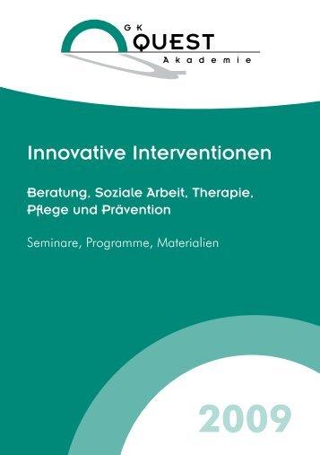 Innovative Interventionen - Kontrolliertes Trinken