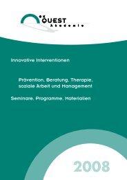 Innovative Interventionen Prävention, Beratung, Therapie, soziale ...