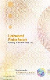 Liederabend Florian Boesch - Konzerthaus Dortmund