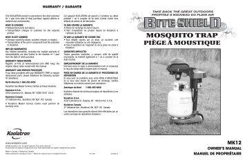OWNER'S MANUAL MANUEL DE PROPRIÉTAIRE - Koolatron