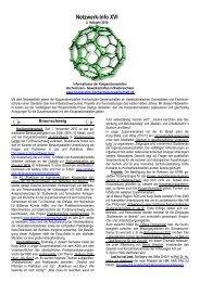 Netzwerkinfo XVI 2.Halbjahr 2010 - Kooperationsstelle Hochschulen ...